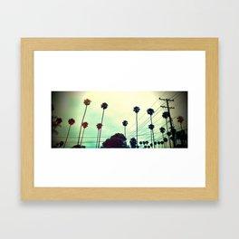 Palms & Powerlines  Framed Art Print