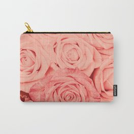 Some People Grumble - Living Coral Roses Carry-All Pouch