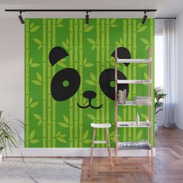 Evergreen Bamboos with Panda Wall Mural