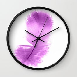 pink feather Wall Clock