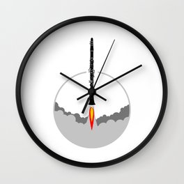 Clarinet Rocket Wall Clock