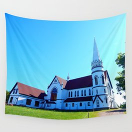St. Mary's Church front view Wall Tapestry