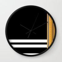 steelers Wall Clocks featuring Maldivian Sarong (Feyli) by Arcturus