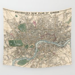 Vintage London Map - 1853 Wall Tapestry