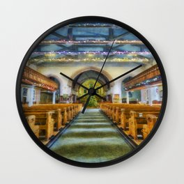 We Are Never Alone At Christmas Wall Clock