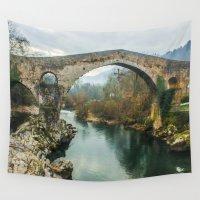 roman Wall Tapestries featuring Asturias Roman Bridge by Svetlana Korneliuk