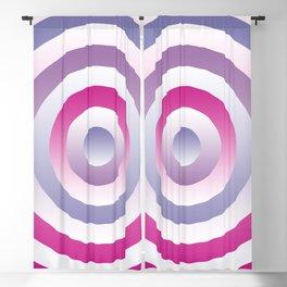 Pastel Blue Pink Circles Pattern Blackout Curtain