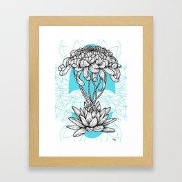 Chrysanthème&Nenuphar Framed Art Print