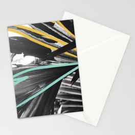 Fan Service II - Tropical Palm Leaves Modern Mixed Media Photography Illustration Stationery Cards