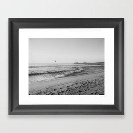 HALF MOON BAY VI (B+W) Framed Art Print