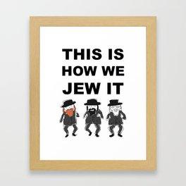Funny Jewish Shirt   Hanukkah Shirt   Hebrew Shirt T-Shirts Framed Art Print