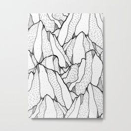 White pattern mountains Metal Print