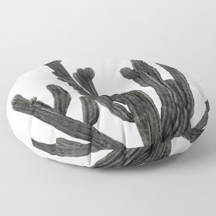 Black and White Cactus Floor Pillow