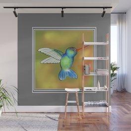 HummingBird Grey Wall Mural