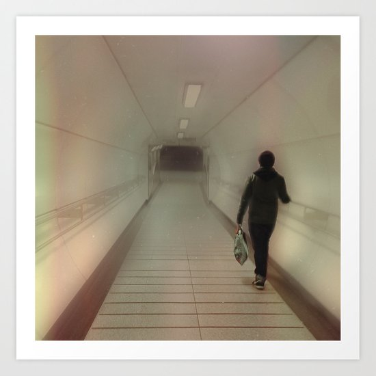 Darkness At The End Of The Tunnel. Art Print