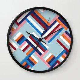 Herringbone Pattern Wall Clock