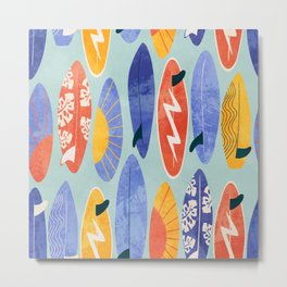 Surfboard blue Metal Print