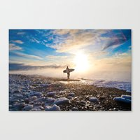 surfer Canvas Prints featuring Surfer by joshuaveldstra