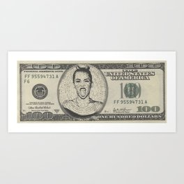 In Miley We Trust Art Print