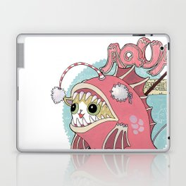 Aqua cat_Muka Laptop & iPad Skin