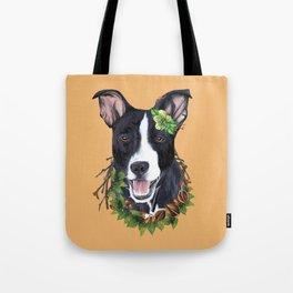 Flower dog Tote Bag