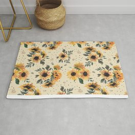 Sunflower Blooms - Tan Rug