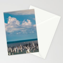 The Barcolana regatta in the gulf of Trieste Stationery Cards