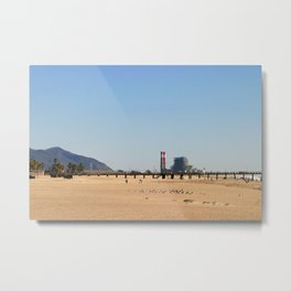 Power Station Beach Metal Print