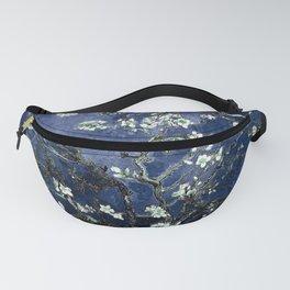 Vincent Van Gogh Almond Blossoms Dark Blue Fanny Pack
