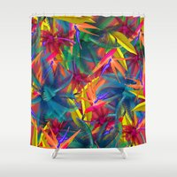tropical Shower Curtains featuring tropical by mark ashkenazi