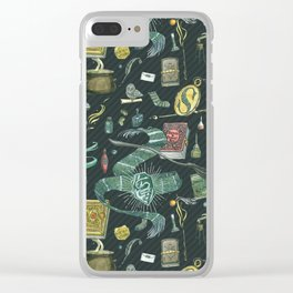 Slytherin House Clear iPhone Case