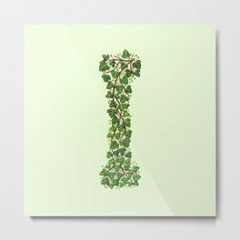 Leafy Letter I Metal Print