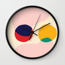 happy shapes Wall Clock