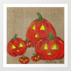 Lantern Patch Art Print