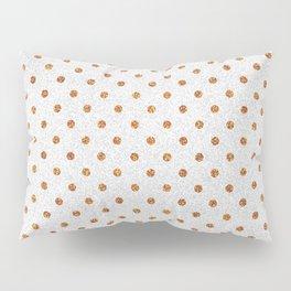 Elegant white modern faux gold glitter polka dots Pillow Sham