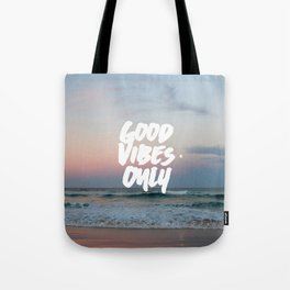 Good Vibes Only Beach and Sunset Tote Bag