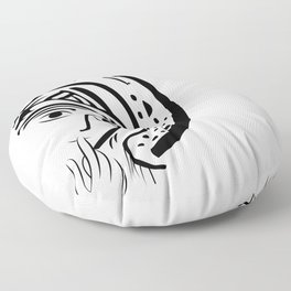 Our Lady of Silence Floor Pillow