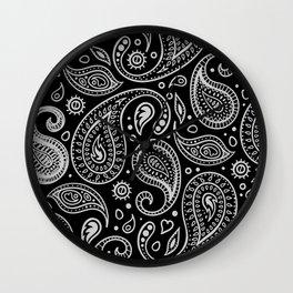Paisley - Black & White Wall Clock