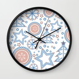 Christmas holidays Wall Clock