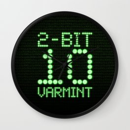 2-Bit Varmint / Binary vermin team code Wall Clock