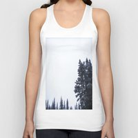 skiing Tank Tops featuring Skiing Copper by Amelia Vilona