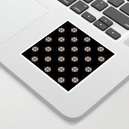Simulated illuminated diamond pattern Sticker