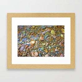 Baptism River Rocks Framed Art Print