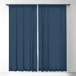 Pratt and Lambert 2019 Noir Dark Blue 24-16 Solid Color Blackout Curtain