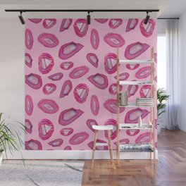 Pink Agate Pattern Wall Mural