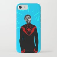 childish gambino iPhone & iPod Cases featuring Childish Spidey (Blue) by Maliboo