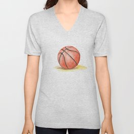 Basketball Watercolor Unisex V-Neck