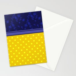 The yellow-blue combo pattern. Stationery Cards