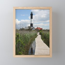 Fire Island Light With Reflection - Long Island Framed Mini Art Print