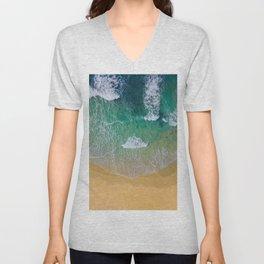 Ocean from the sky Unisex V-Neck